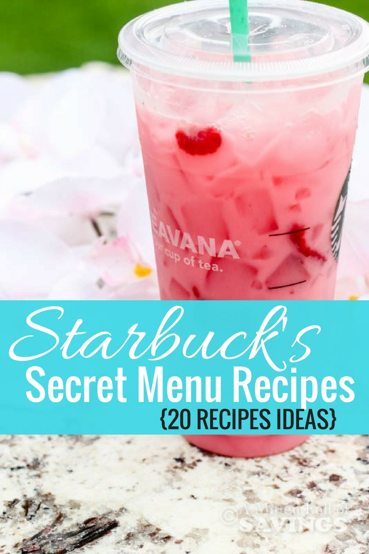 Did you know there's a secret menu at Starbucks? Get some of their recipe ideas and order them or make your own at home with Starbucks Secret Menu Recipes