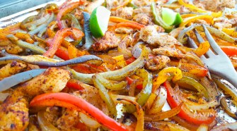 We love sheet pan meals since there is so little cleanup. These Sheet Pan Baked Chicken Fajitas are a personal favorite. They are delicious, full of flavor, and so easy to make! I can throw this together, pop in the oven, and spend more time catching up with my family about their day. Served with tortillas and all of the toppings, they can also be a healthier option for many!