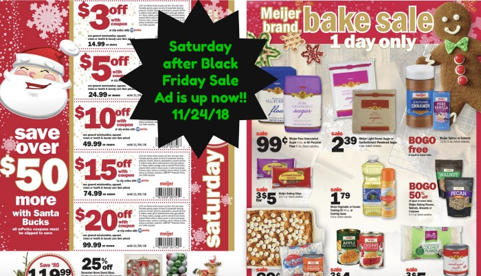 debead9247d Meijer Black Friday Weekend: Saturday Sale 11/24/18 - Fresh Outta Time