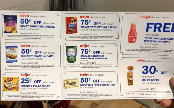 Free coupons from Meijer
