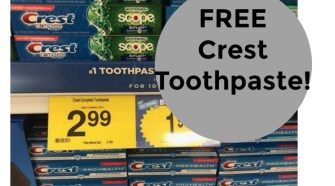 Free Crest Toothpaste at Kroger