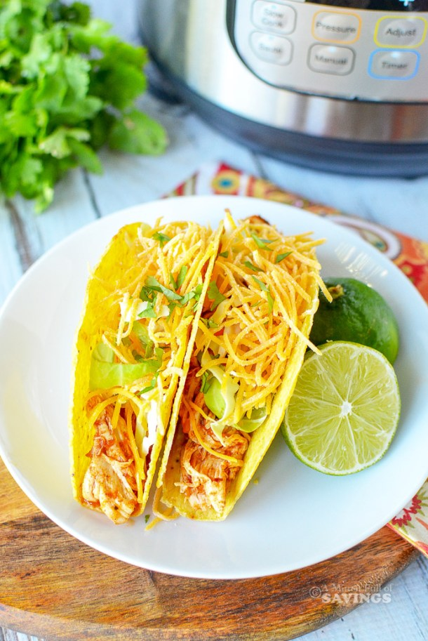 Ingredients for Instant Pot Chicken Tacos