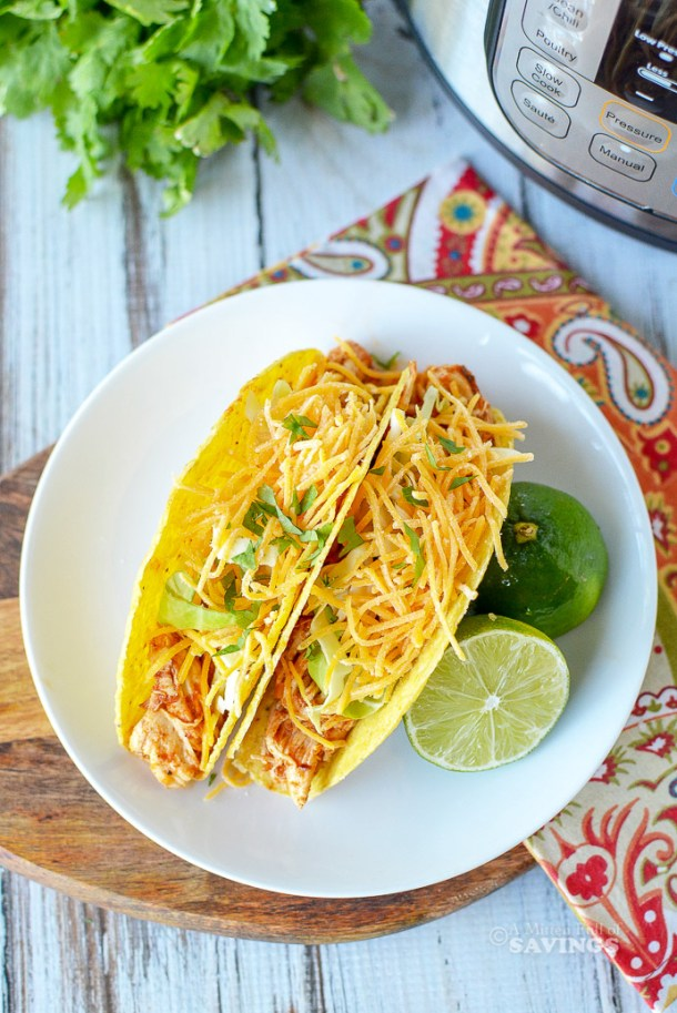 Directions for Instant Pot Chicken Tacos