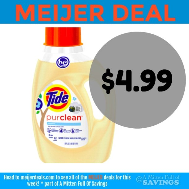 Tide Puclean deal at Meijer- Pay $4.99