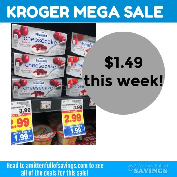 Kraft Philadelphia Cheesecake Cups $1.99 Kroger MEGA Sale