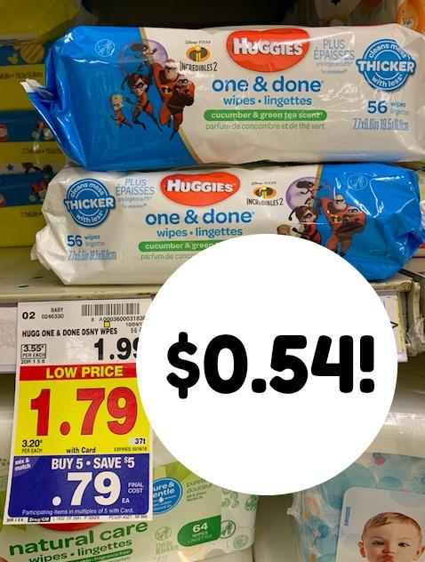 Kroger MEGA: Grab Huggies wipes $0.54