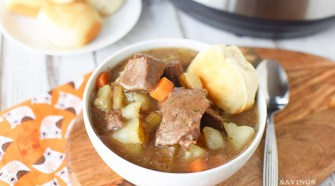 Making our Instant Pot Beef Stew will take you back to childhood and your grandma's dinner table!  Nothing reminds me of sitting down for a great meal like a bowl of my grandma's beef stew.  Rich and flavorful, it was the perfect way to warm up on a cold winter day.  This recipe brings you the comforting flavors you recall from childhood but ready in minutes instead of hours!
