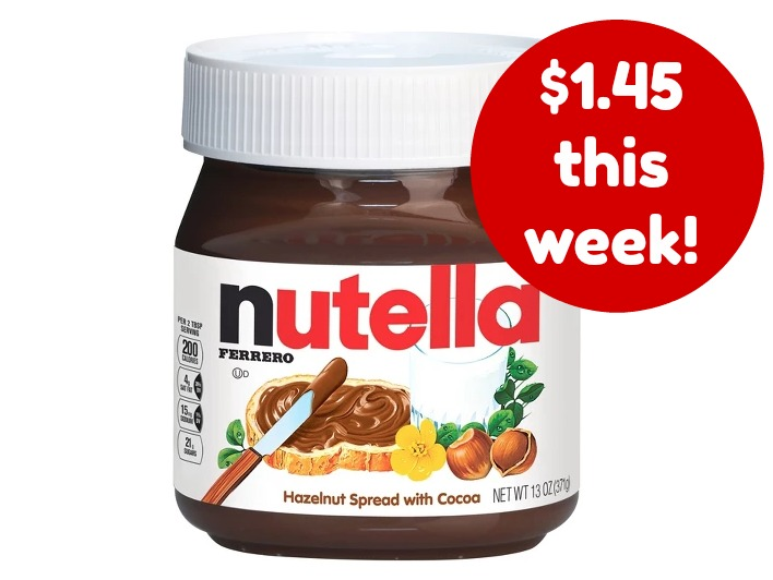 Target deal on Nutella
