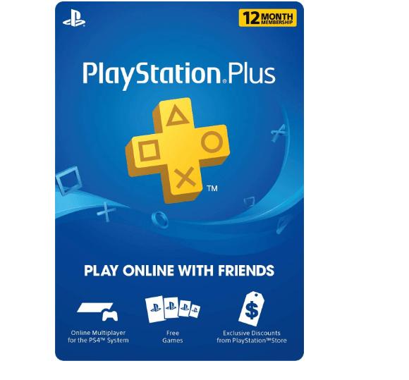 PlayStation Plus 12-month membership $39.99