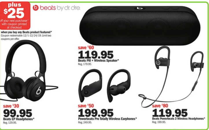 Beats deals for Black friday at Meijer