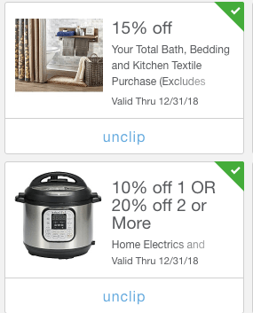 mPerk coupon offers