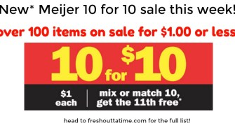Meijer 10 for 10, Get the 11th Free Sale