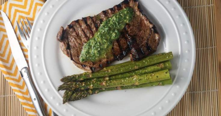 Grilled Ribeyes with Chimichurri