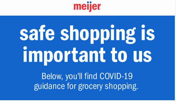 New Changes At Meijer - Tips For Shopping Safely