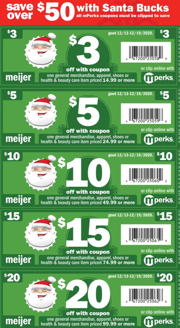 Meijer: When Is The Santa Bucks Sale