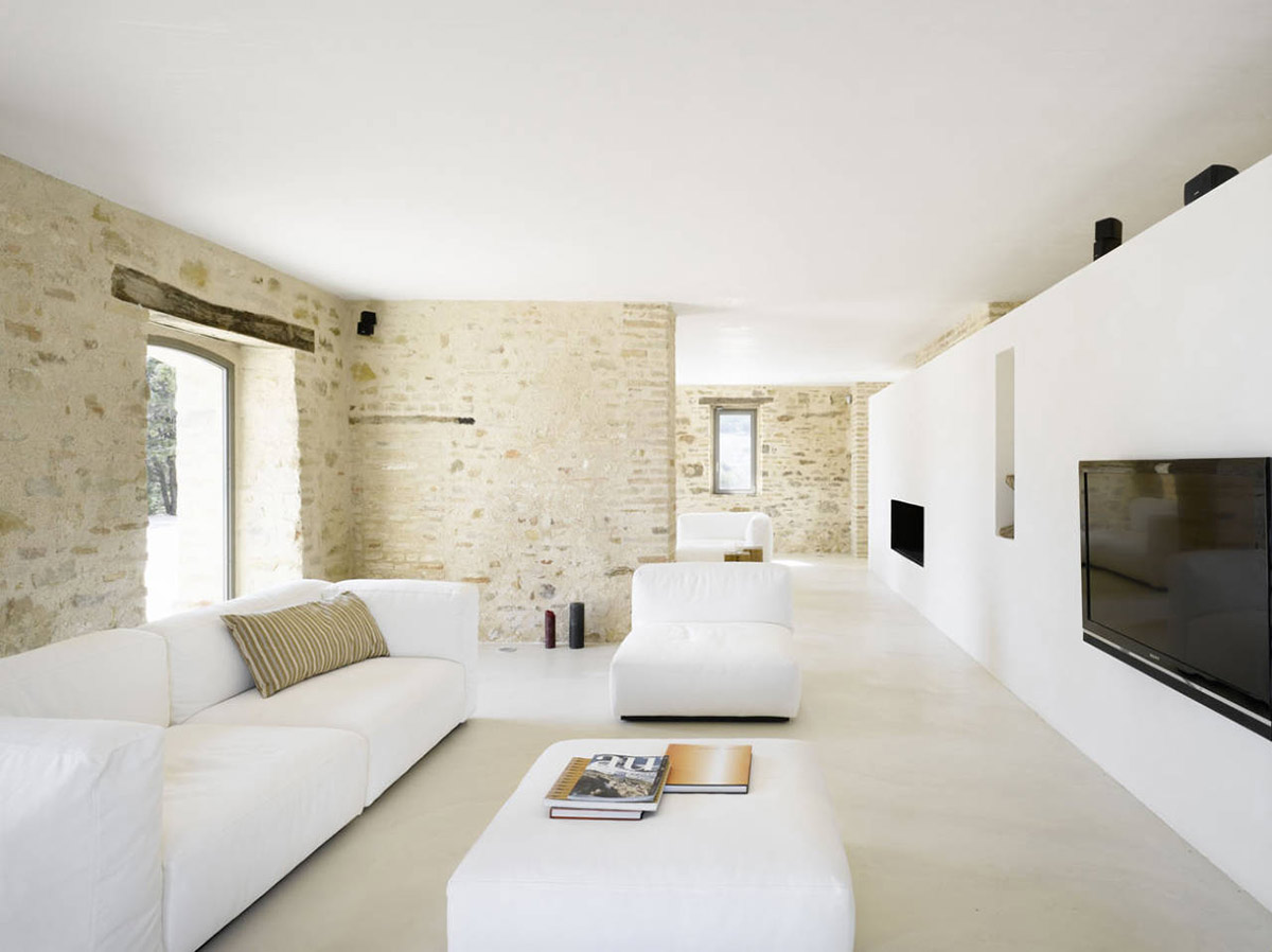 Home Renovation In Treia Italy by Wespi de Meuron Architects