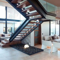 Open Plan Staircase In Living Room Simple Tv Unit Designs For India Stairs Space House Aboobaker Limpopo South Africa