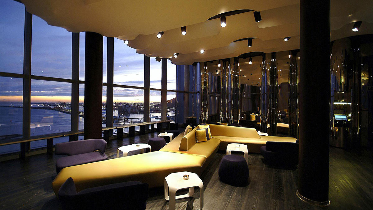 Lounge Evening Views W Hotel Barcelona by Ricardo