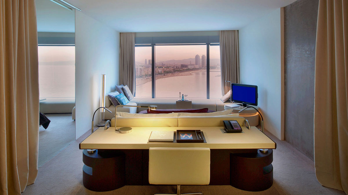 Room Office Desk LivingSpace W Hotel Barcelona by