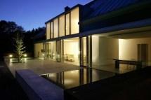 Lighting Water Feature Terrace Llmann Residence In