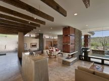 Open Plan Living, Glass Walls, Modern Home in Scottsdale ...
