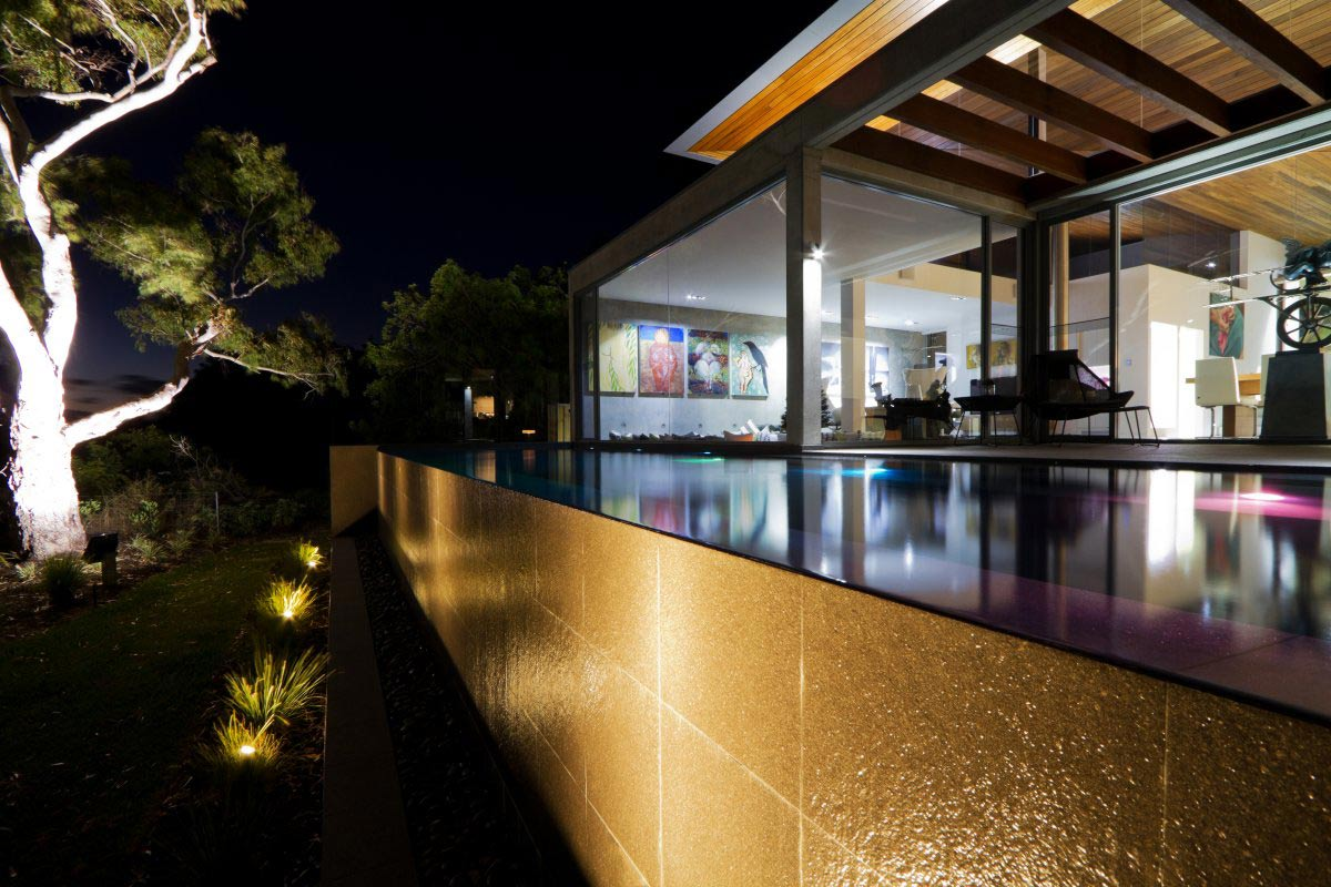 Outdoor Pool, Lighting, The 24 House in Dunsborough, Australia