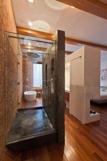 Bathroom Open Shower Design