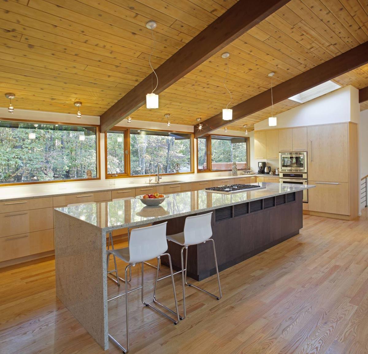 Kitchen Island, Breakfast Table, Deck House Renovation in