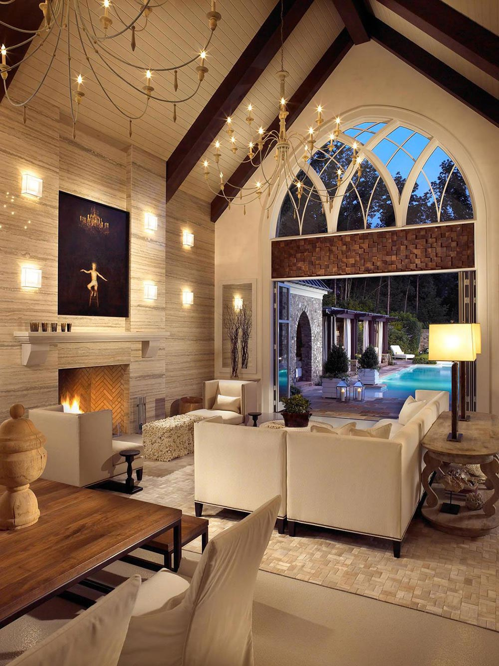 Pool House & Wine Cellar In Nashville Tennessee By Beckwith Interiors
