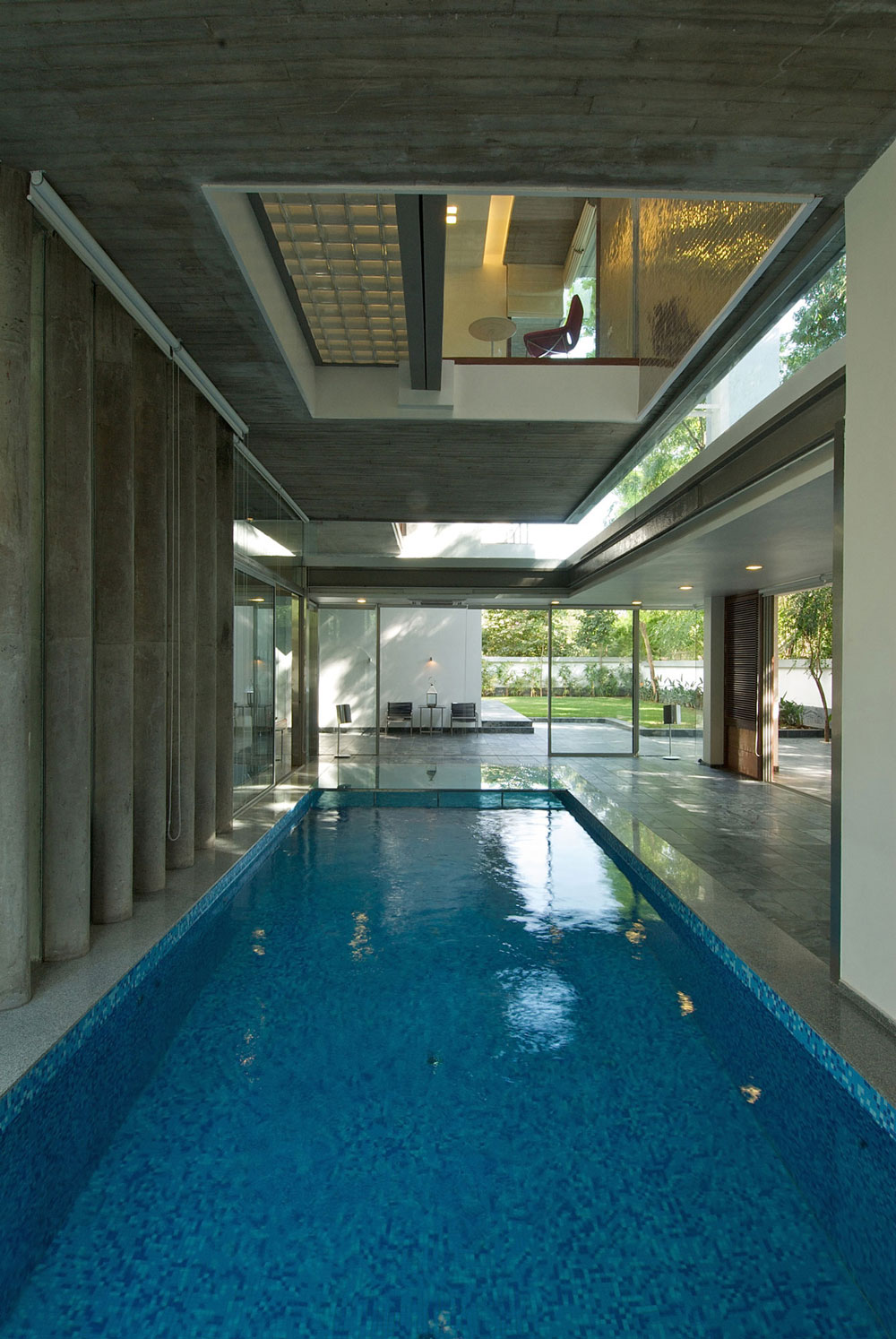 Indoor Pool Glass Walls Poona House in Mumbai India by