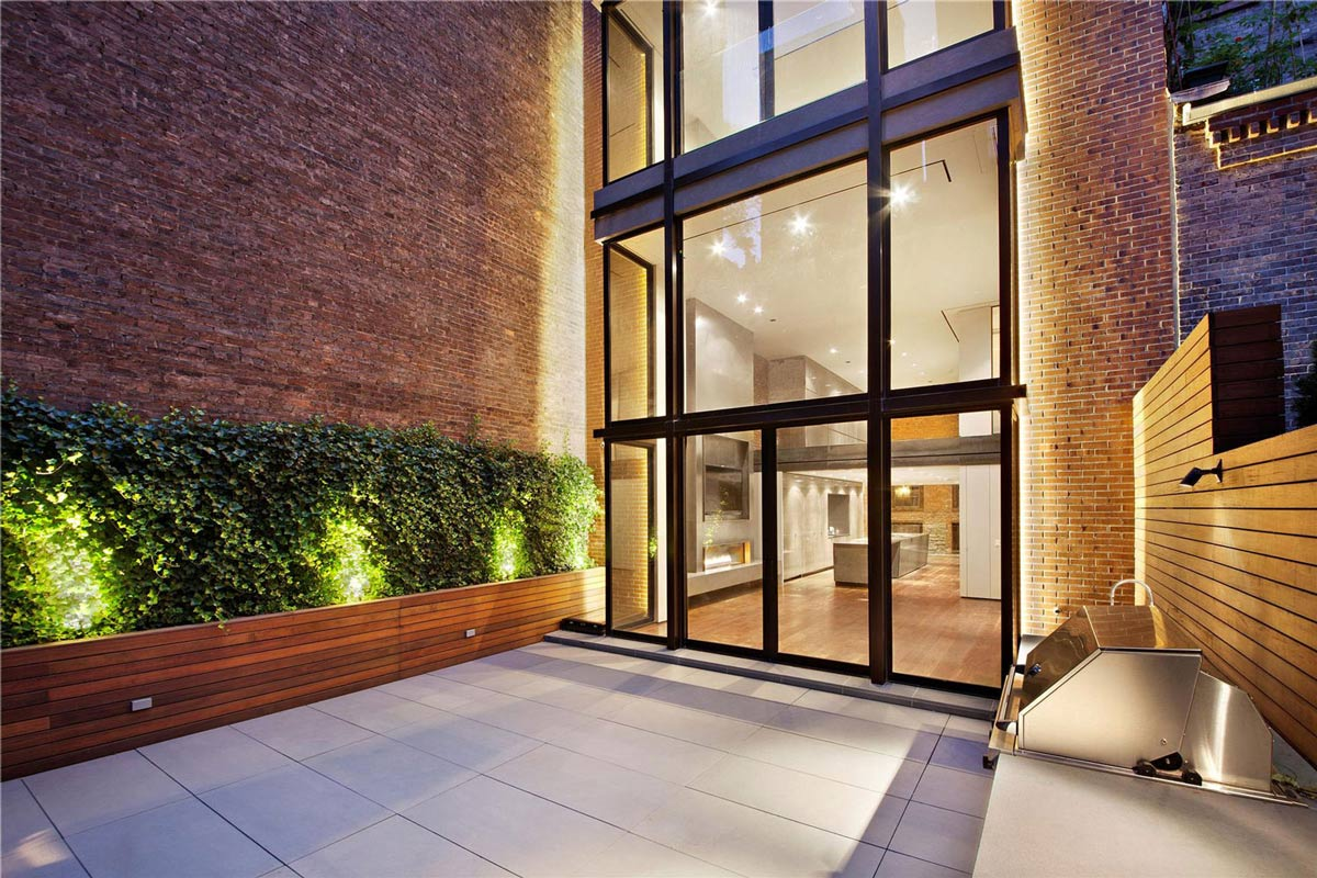 Modern Glass House Architecture Brick