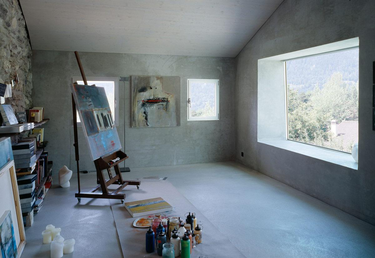 Art Studio, Renovation in Chamoson, Switzerland by Savioz Fabrizzi Architecte
