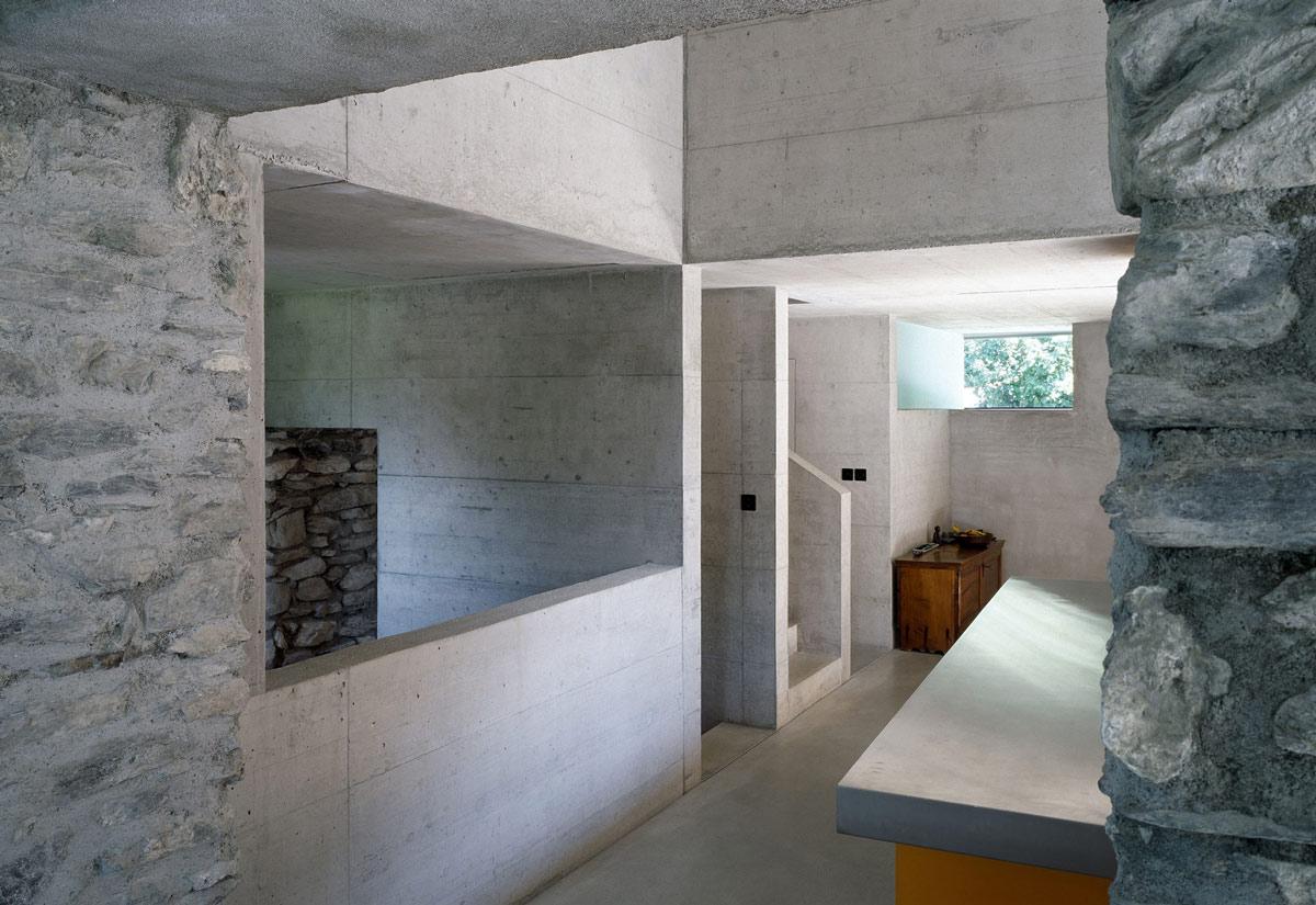 Kitchen, Renovation in Chamoson, Switzerland by Savioz Fabrizzi Architecte