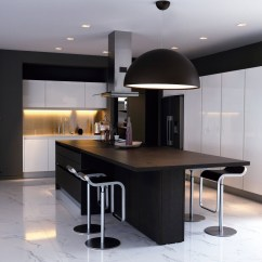 Black Kitchen Islands Stainless Steel Wall Panels For Commercial And White Island Breakfast Table Baan Citta