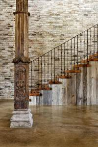 Rustic Staircase, Hill Country Modern in Austin, Texas