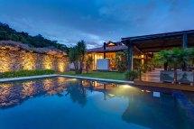 Rustic Pool House Lighting