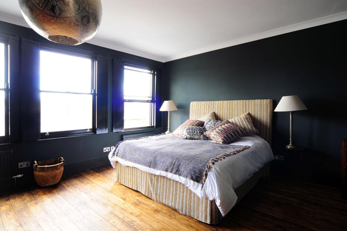 Bedroom, Wood Flooring, Modern Home in London by Bureau de
