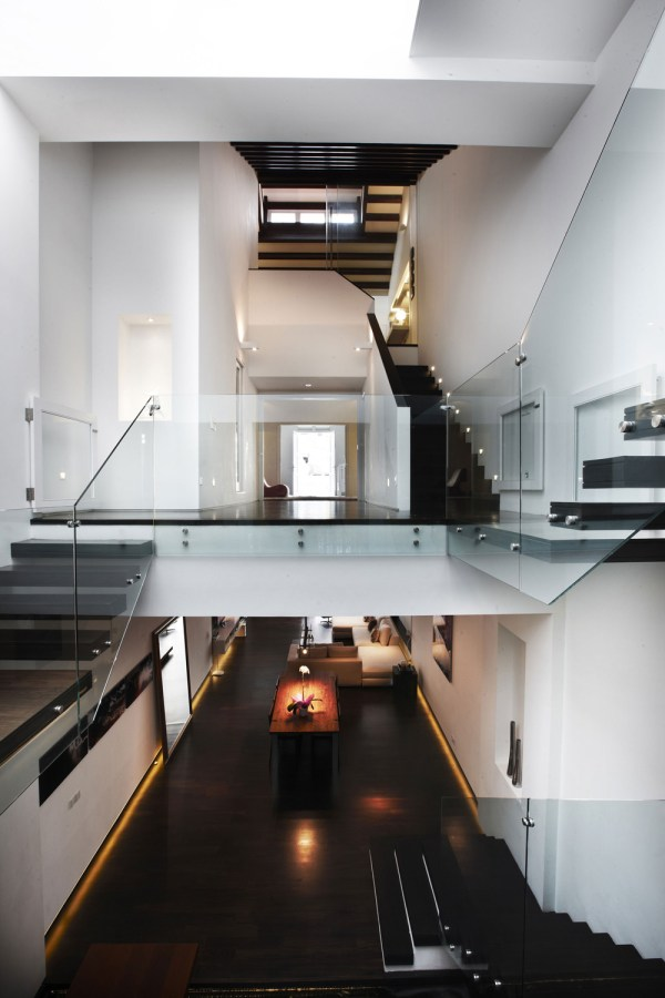 High Ceilings Modern Stairs House Renovation In