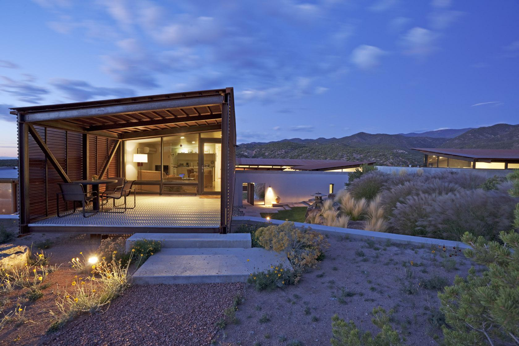Lake Flato Desert House in Santa Fe