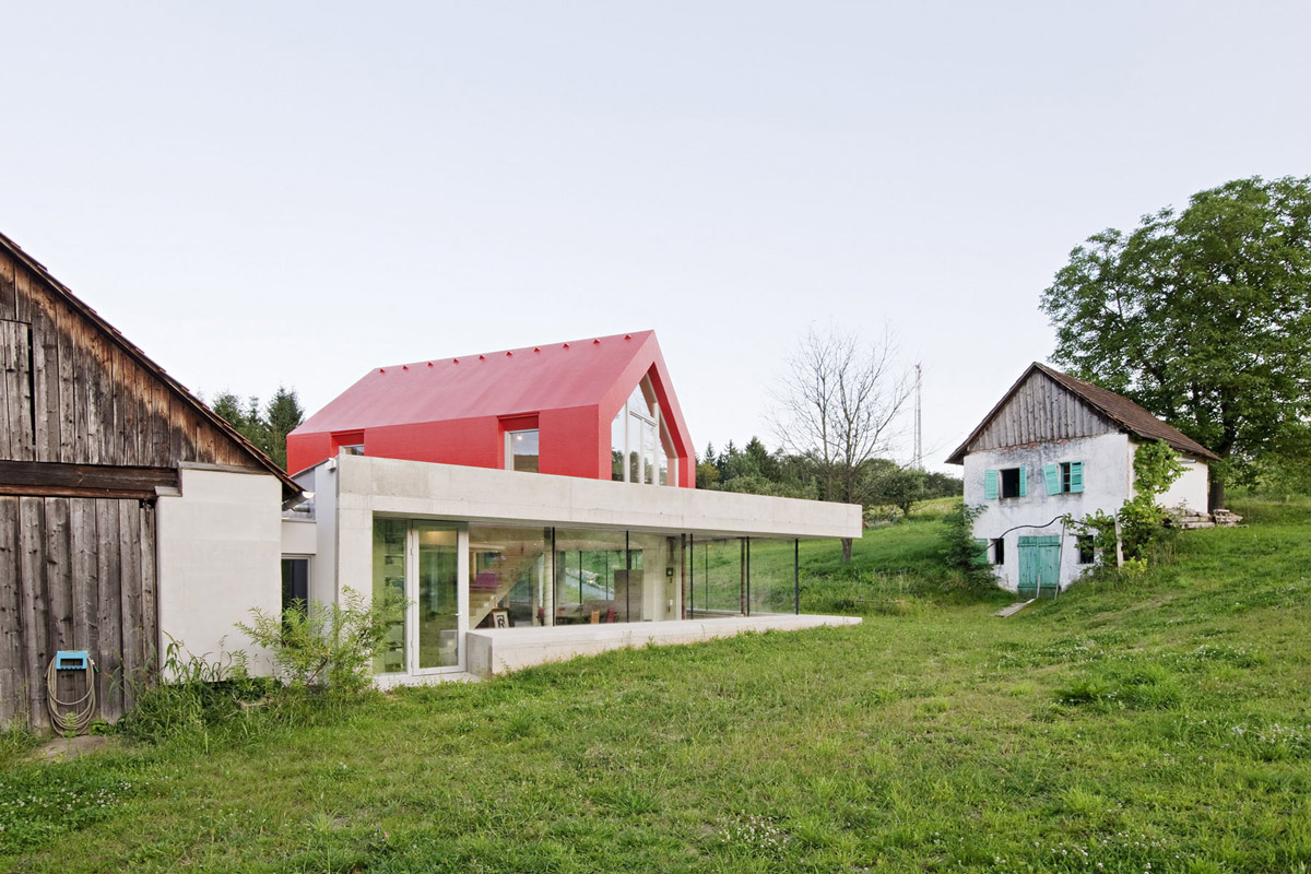 Glass Walls, Old Farm House Renovation and Expansion in Burgenland, Austria