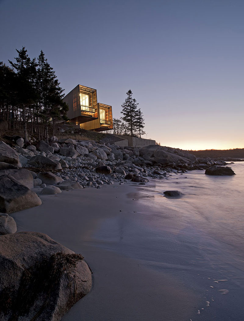 Evening Lighting, Home in Port Mouton, Nova Scotia