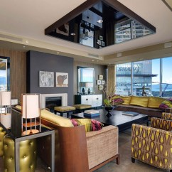Beautiful Kitchen Islands Bar Height Benches Apartment With Amazing Views In Vancouver, Canada