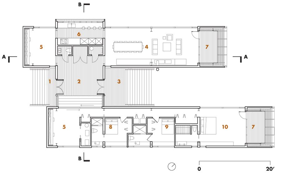 Floor Plan, Home in Port Mouton, Nova Scotia