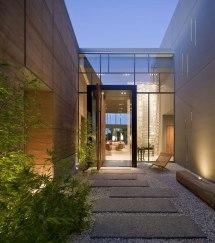Modern Home Front Entrance Door Glass in Las Vegas Massive