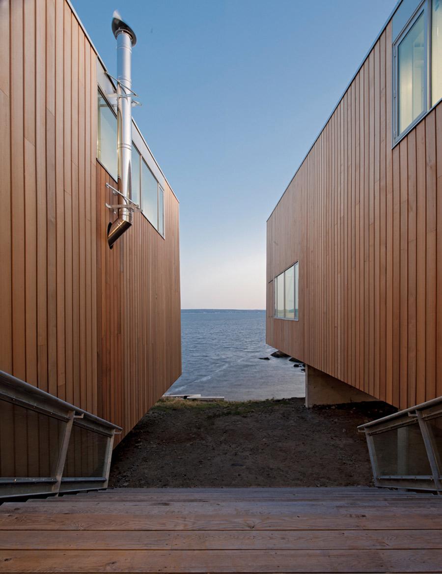 Wooden Steps, Sea View, Home in Port Mouton, Nova Scotia