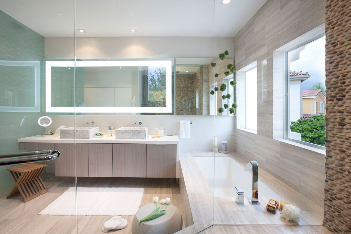 Marble Tiles Bathroom Stylish Interior Design in Miami