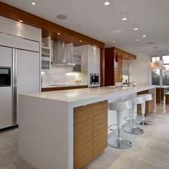 Breakfast Bar Kitchen Pots And Pans Set Bright Contemporary Home In Edmonton Canada