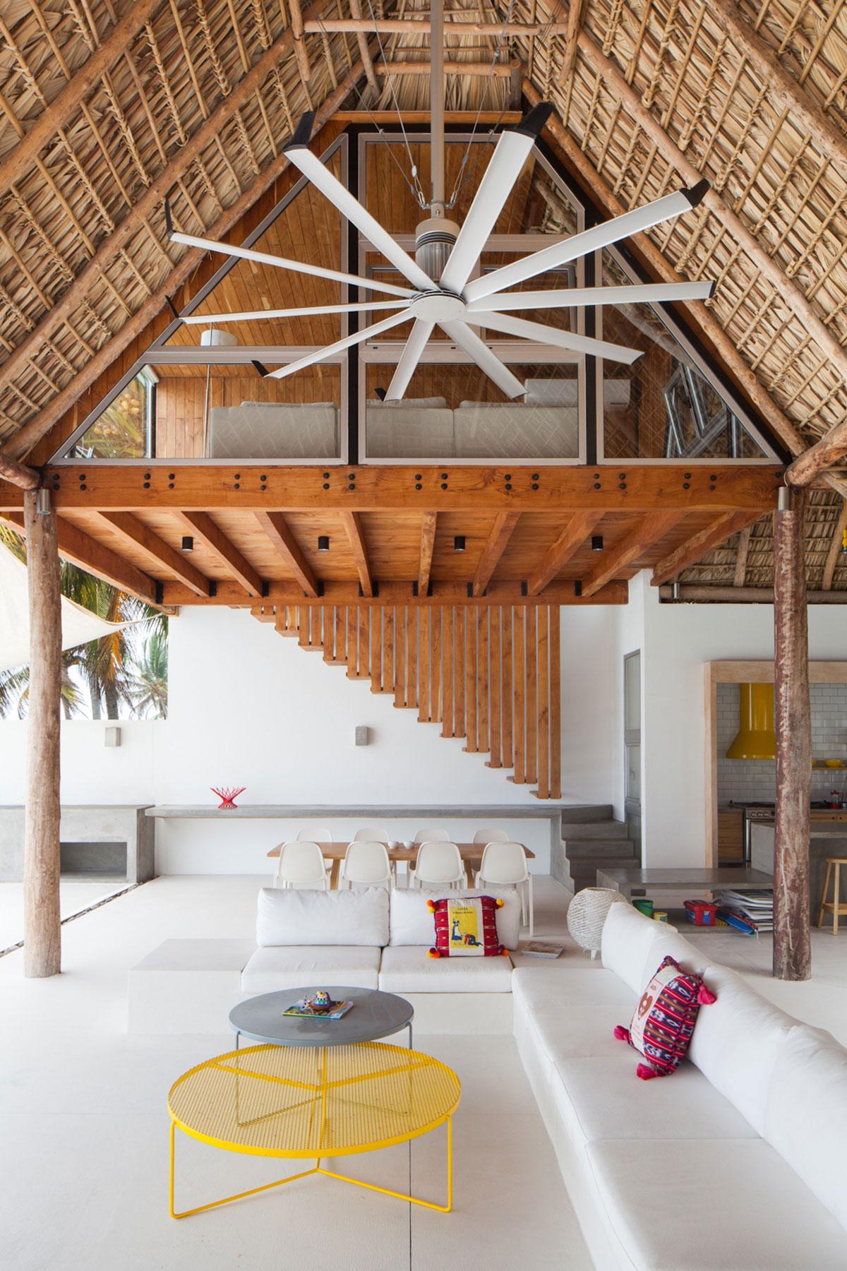 Sofas Open Plan Living Space Beach House in San Salvador