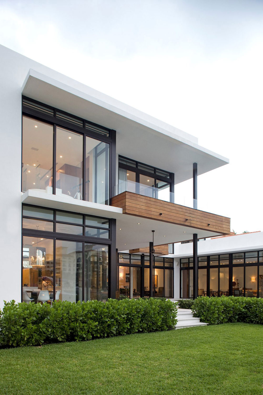 FloortoCeiling Windows Modern Home in Golden Beach Florida