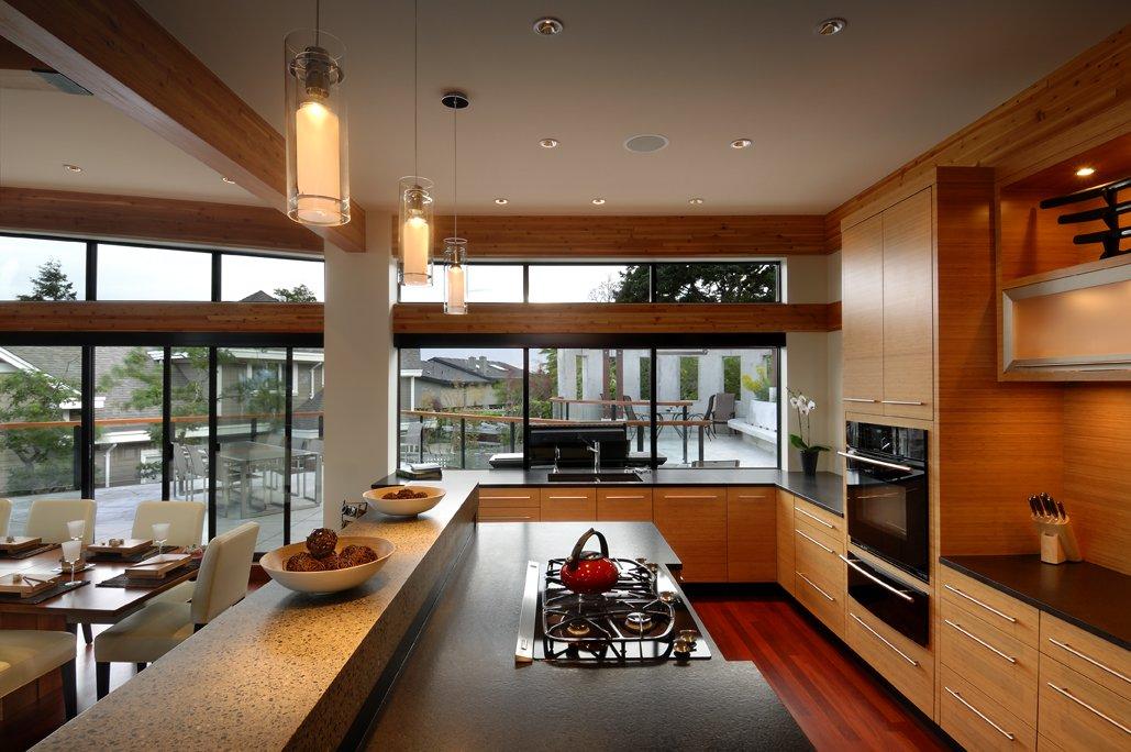 Kitchen FloortoCeiling Windows Modern Home in Victoria